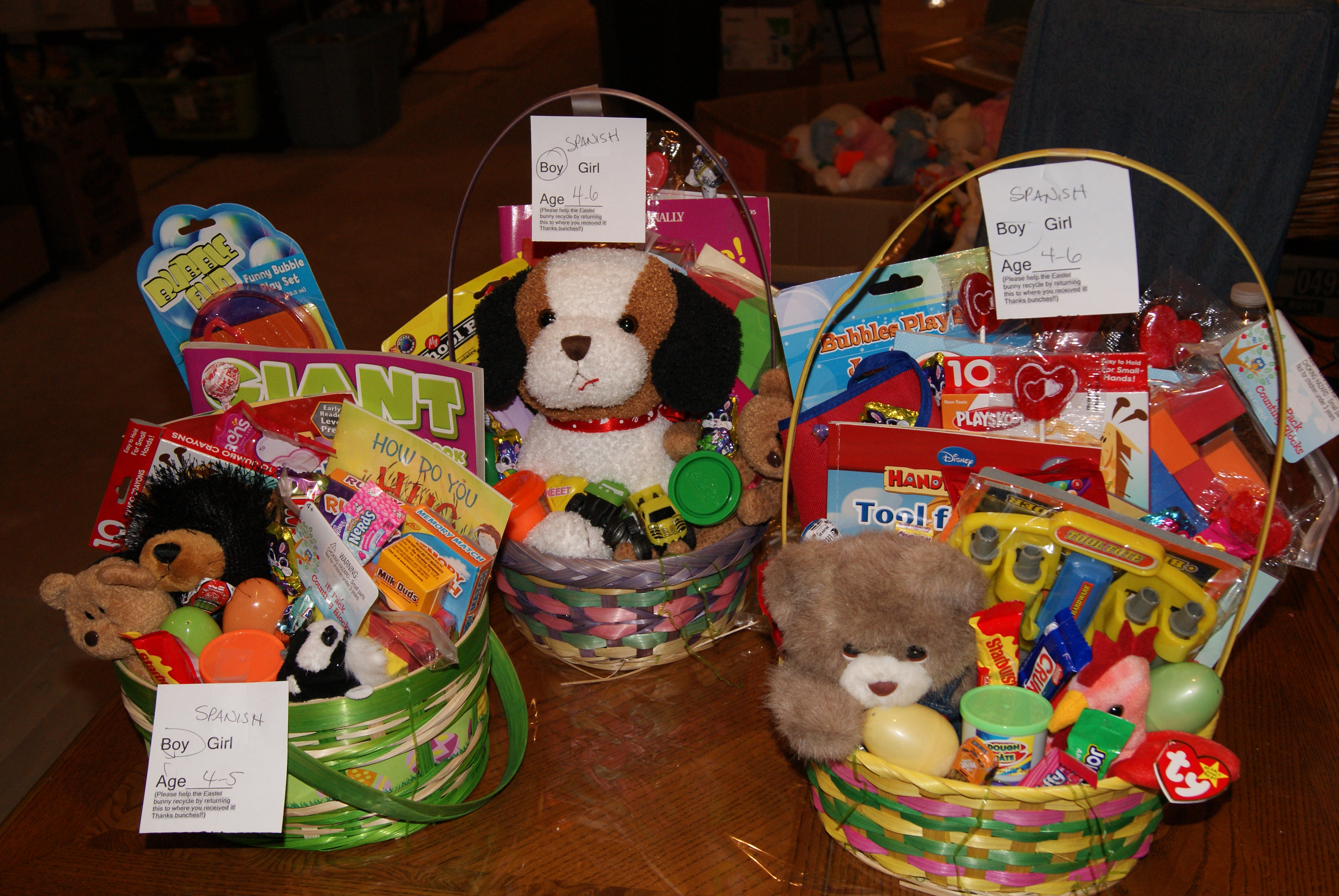 Easter baskets stuffed animals families building faith sony dsc negle Images